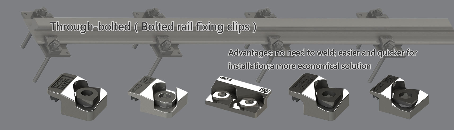 welded rail fixing clips.